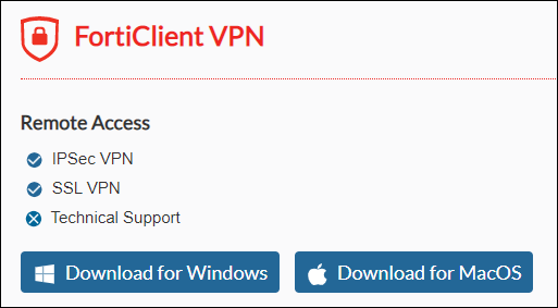 Forticlient VPN download