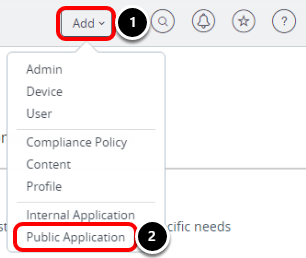 Manage Android devices and Add a Public Application in Workspace ONE UEM admin console.