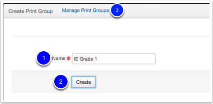 Create a Print Group