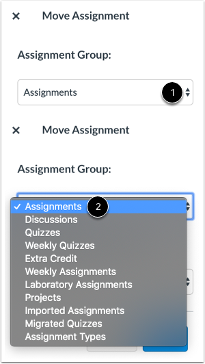 Select Assignment Group