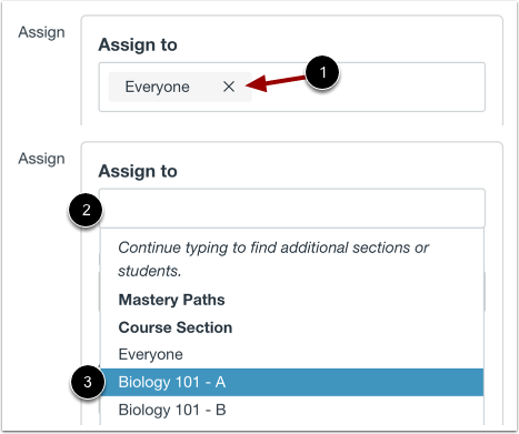 Assign to Section Only