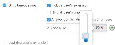 Simultaneous Ring - Offnet Numbers