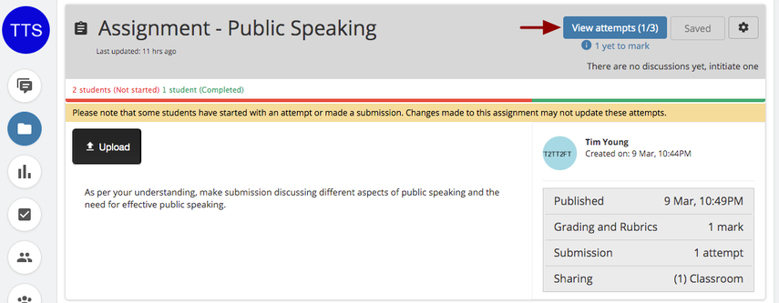 (36) Assignment - Public Speaking | Teamie at UWC