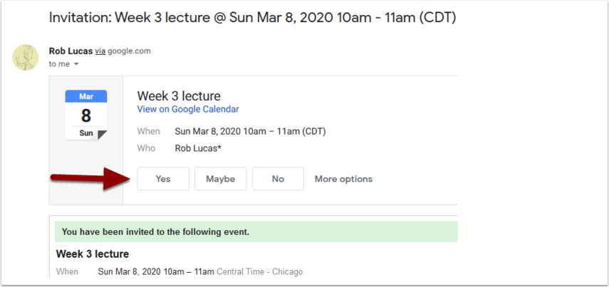Invitation: Week 3 lecture @ Sun Mar 8, 2020 10am - 11am (CDT) (syl@shawneecc.edu) - syl@shawneecc.edu - Shawnee Community College Mail - Mozilla Firefox (Private Browsing)
