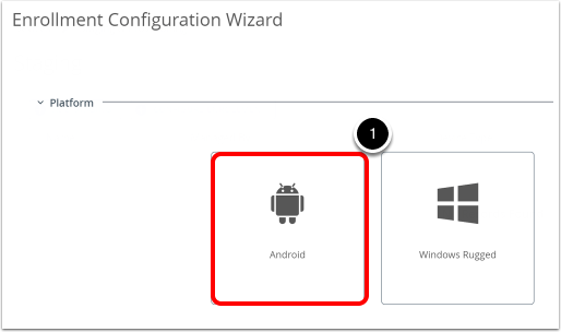 Manage Android devices and configure QR code