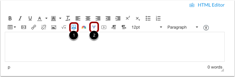 View Studio Icon in Rich Content Editor