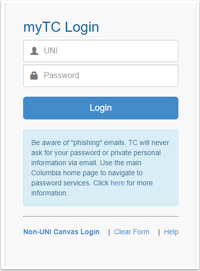 myTC Login - Google Chrome
