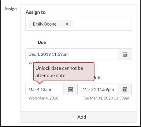 Datumfout weergeven