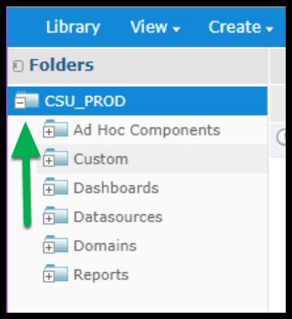 Arrow pointing to CSU PROD folder.