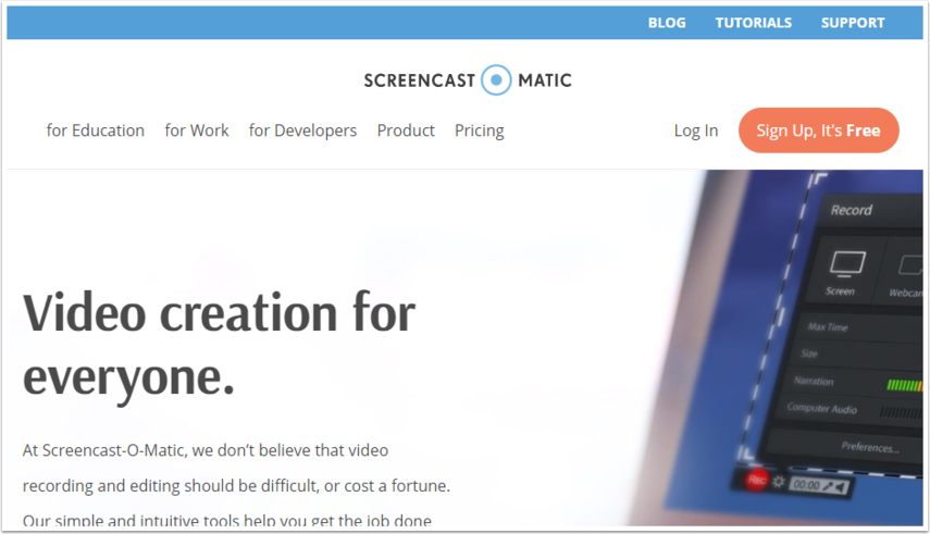 Screen Recorder & Video Editor | Screencast-O-Matic - Google Chrome