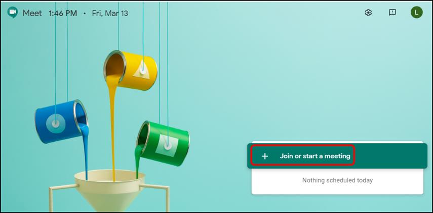 Google Meet homepage