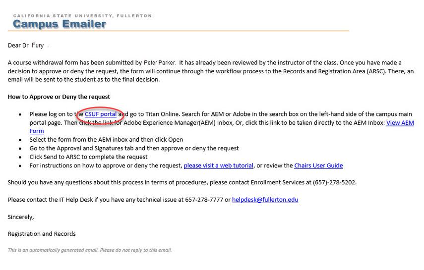campus emailer