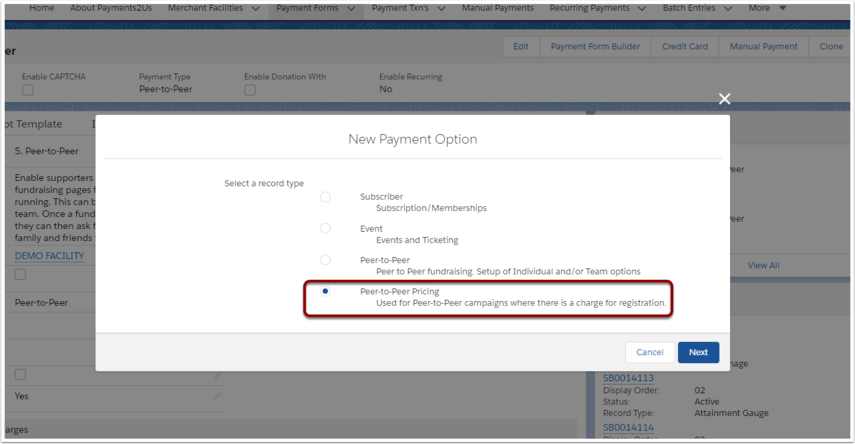 New Payment Option | Salesforce - Google Chrome