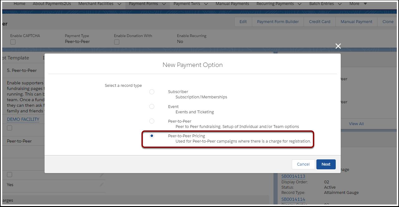 New Payment Option | Salesforce - Google Chrome