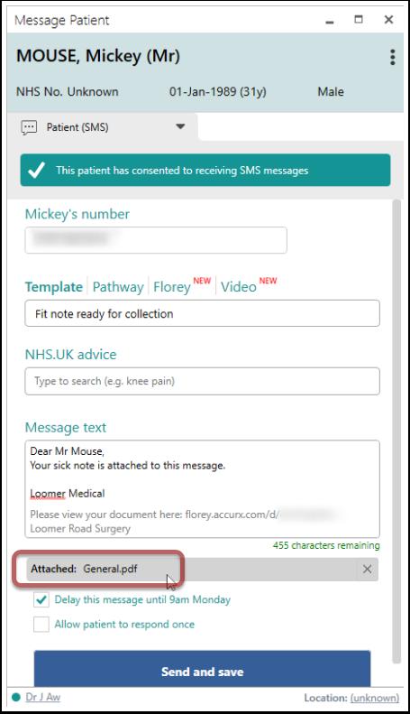 Message Patient