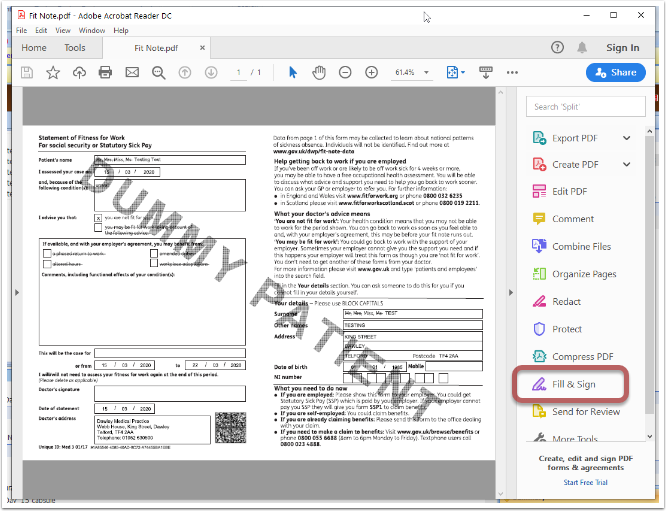 Fit Note.pdf - Adobe Acrobat Reader DC