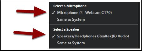 audio menu detail