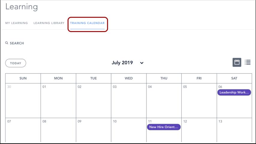 View Live Training Calendar