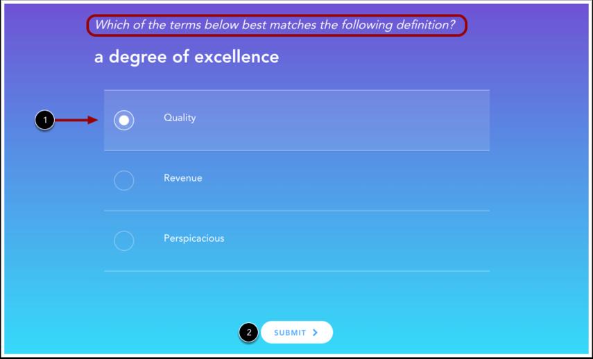 View Vocabulary Quiz