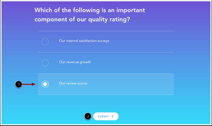 View Multiple Choice Quiz