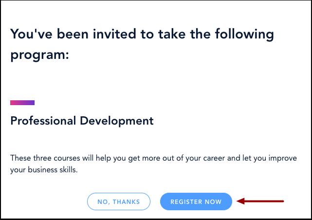 Confirm Program Registration