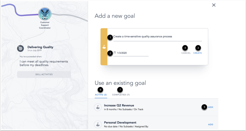 Image of Focus Skill Goal form
