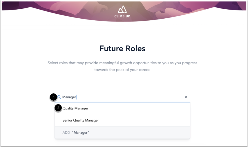 Search for Future Roles
