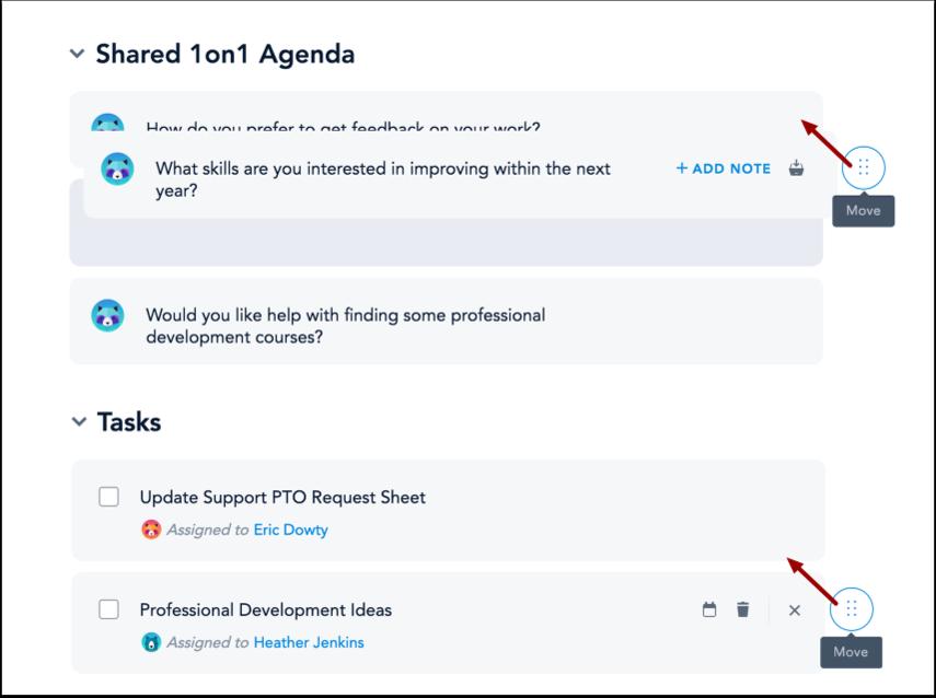 Reorder Agenda Items