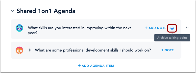 Archive Agenda Item