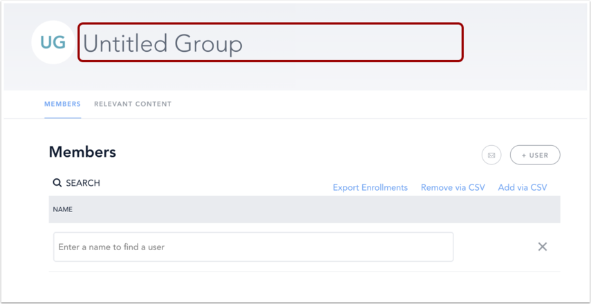 Add Group Title