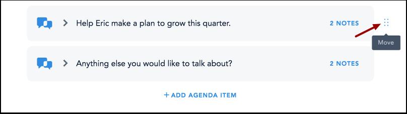 Reorder Performance Conversation Agenda Items