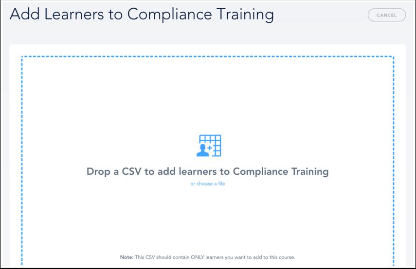Add Learners