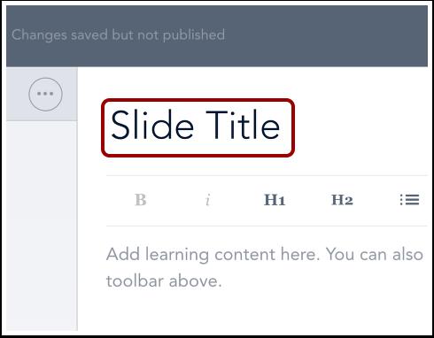Add Slide Title