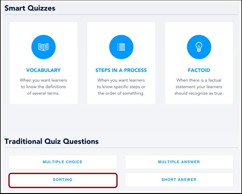 Select Sorting Type