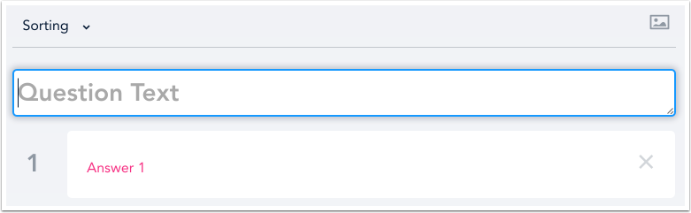 Add Sorting Question Text