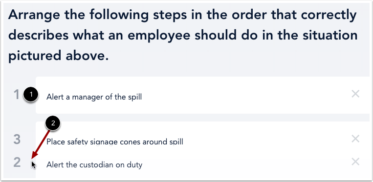 Reorder Answers