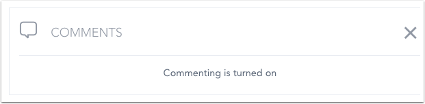 Confirm Commenting is Turned On