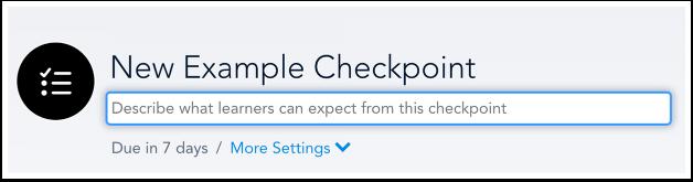 Add Checkpoint Description