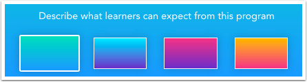 Choose Gradient