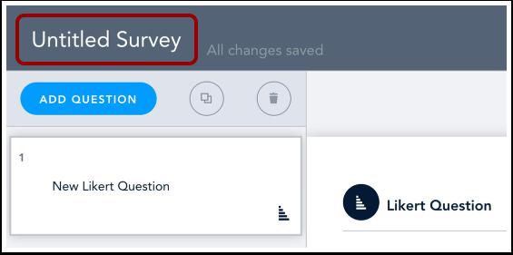 Add Survey Title
