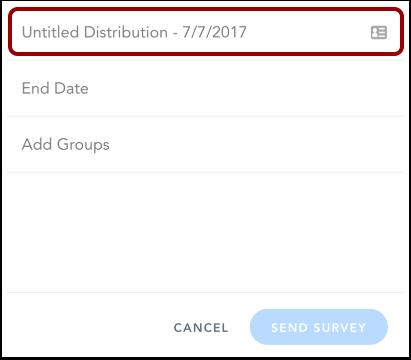 Add Distribution Name