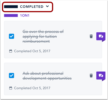 Find Completed Tasks
