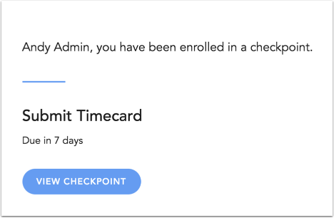 View Notifications for Checkpoints