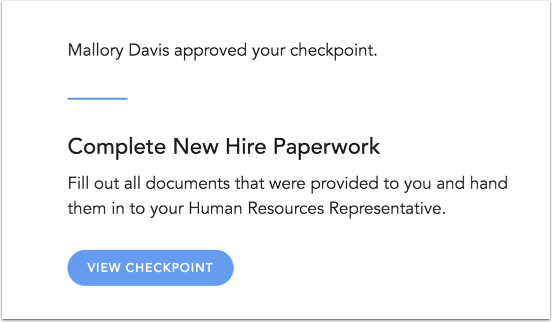 View Notifications for Checkpoint Approval