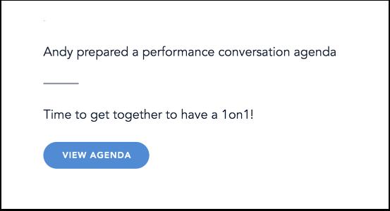 View Performance Conversation Agenda Invitation