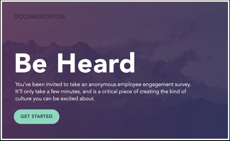 View Engagement Survey Invitation