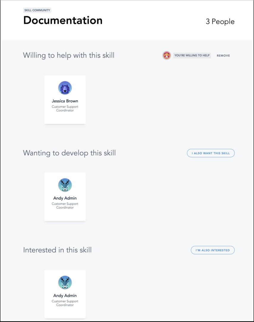 Skill Community page