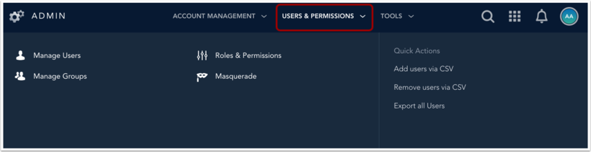 View Users and Groups