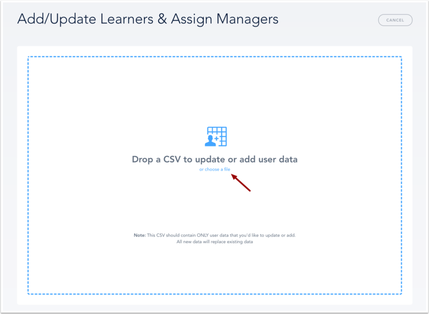 Add/Update Learners & Assign Managers