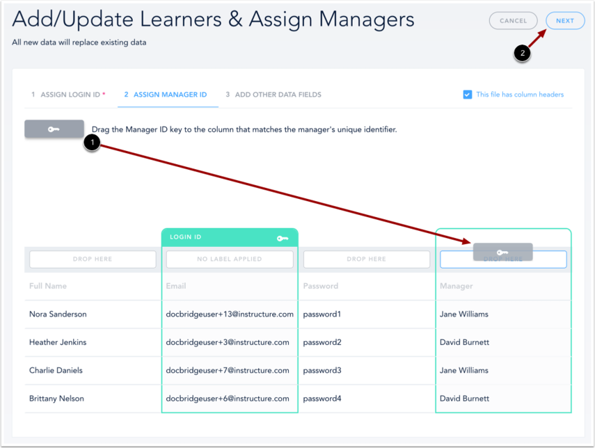 Assign Manager ID